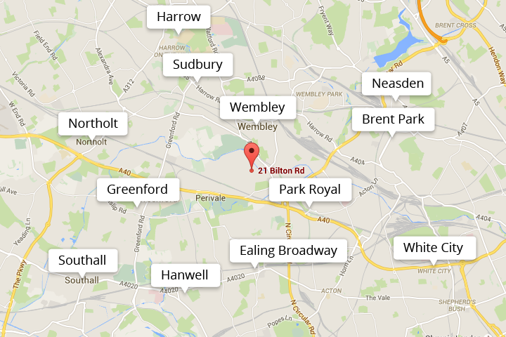 location of clinic to ealing harrow wembley and other local areas